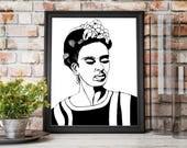 Frida - Original Ink Draw...