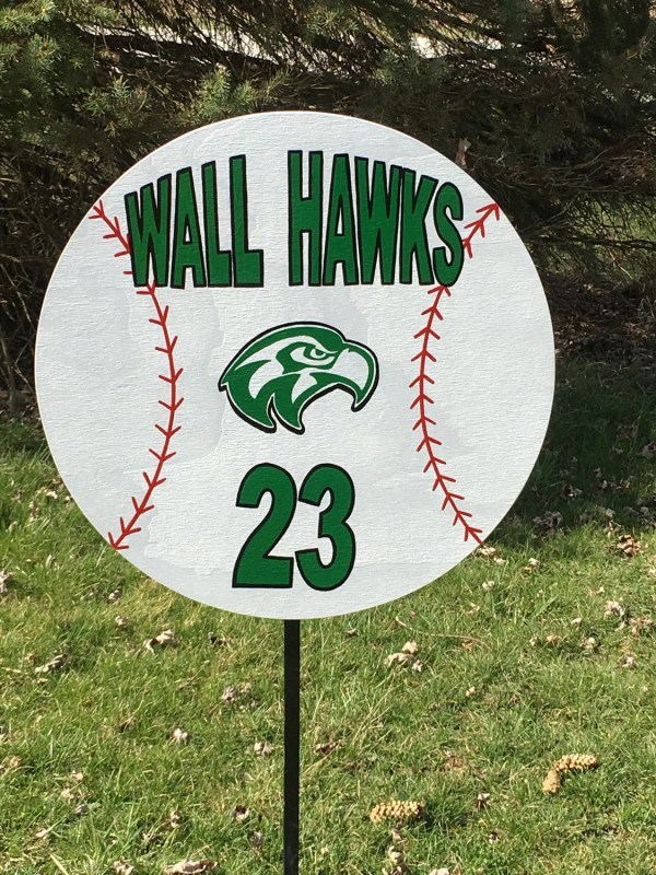Personalized Baseball Yard Sign