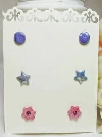Stud earring set 3 Earring set Stud earrings by