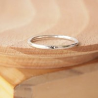 Silver Promise Ring Kiss Plain Silver Band Sterling Silver