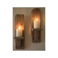 2 Irish Driftwood Wall Sconces Candles sconces handcrafted