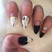 black and gold marble stiletto