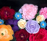 Colorful Paper Flower Wall Party Decor 13 Handmade Paper