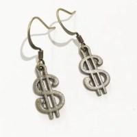 Dollar sign earrings | Etsy