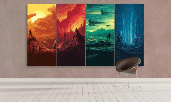 Extra Large Star Wars Canvas Art 4 Panel Wall Canvasfactoryco