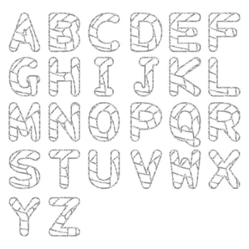 Volleyball svg monogram svg font alphabet letters Svg mom