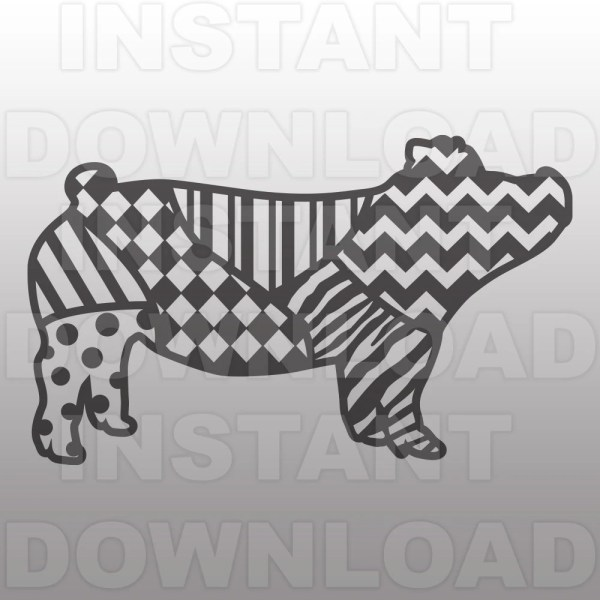 Show Pig Zentangle Wild Pattern Svg File 4- Stockshow File-commercial & Personal