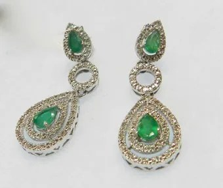 Vintage emerald earrings  Etsy