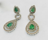 Vintage emerald earrings  Etsy