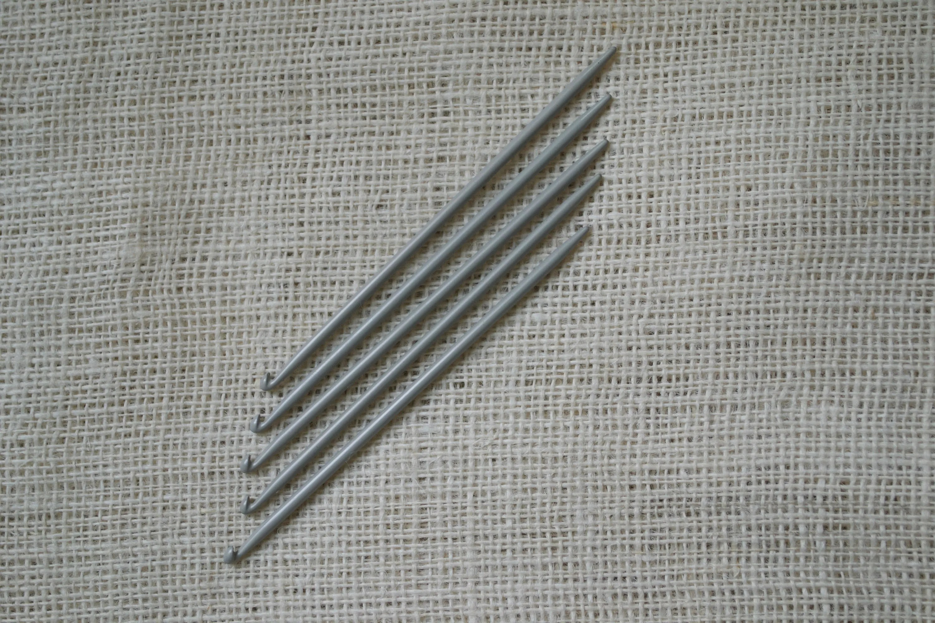 Knitting Needles with Hooks at the End Traditional