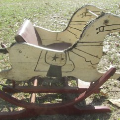 Horseshoe Rocking Chair Parson Chairs Target Vintage Horse Child 39s Seat Riding Toy