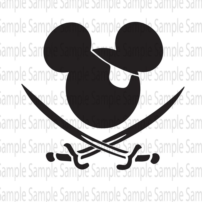 Pirate Mickey Argh Svg Cut File