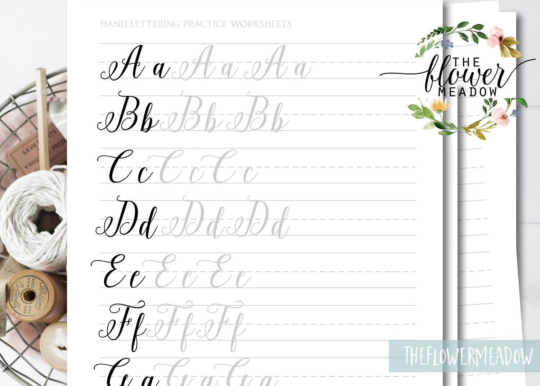 Brush Lettering Worksheets Wedding Calligraphy Tutorial Brush