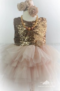 Champagne Gold Baby Dress Baby Girl Dress Gold Dress Baby