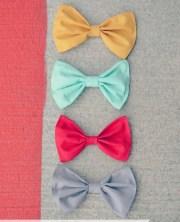 set of 4 summer hair bows