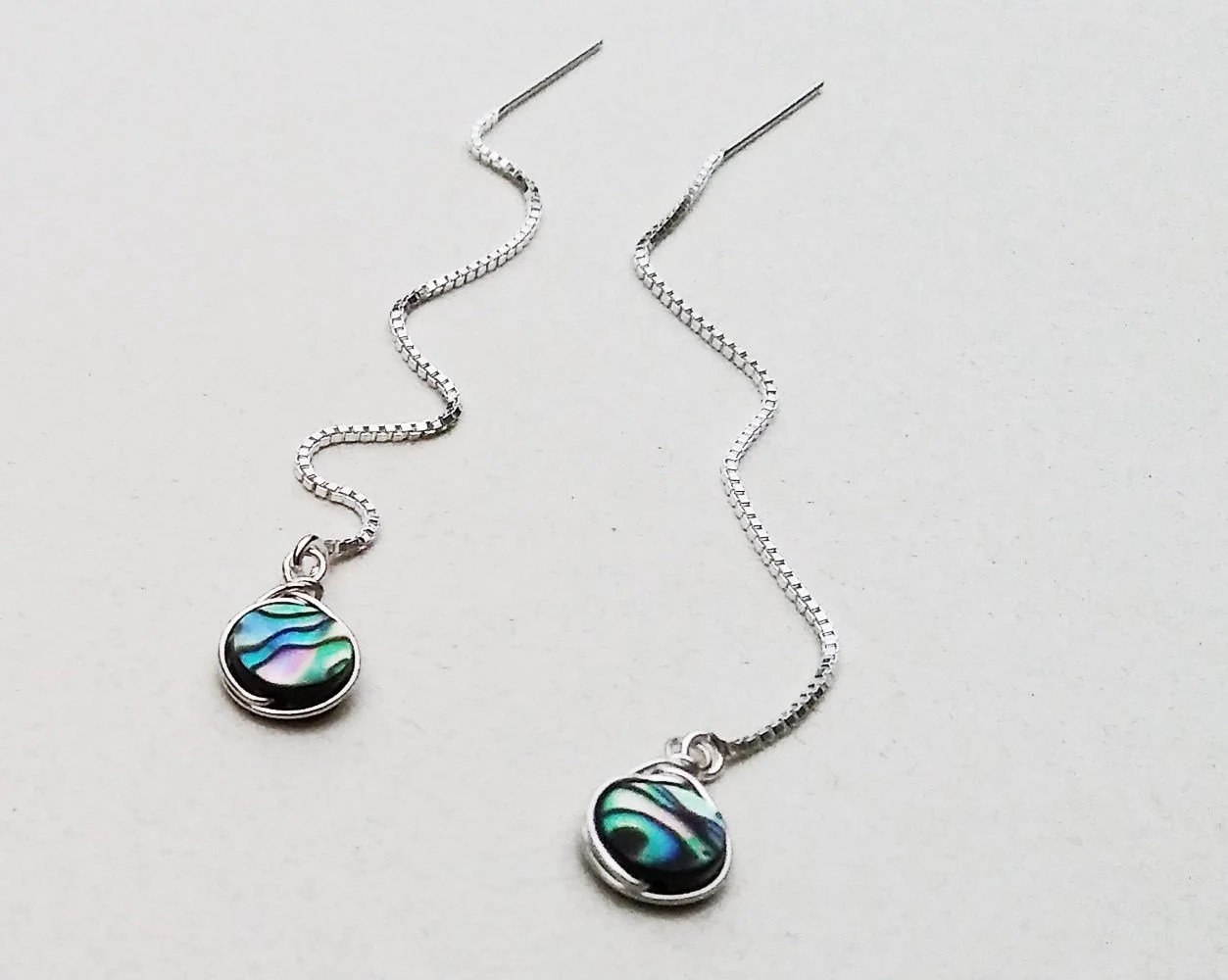 Abalone Earrings Sterling Silver Bridesmaid Jewelry Sterling