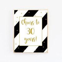 Cheers to 30 Years Birthday Banner Bunting Beer Mug