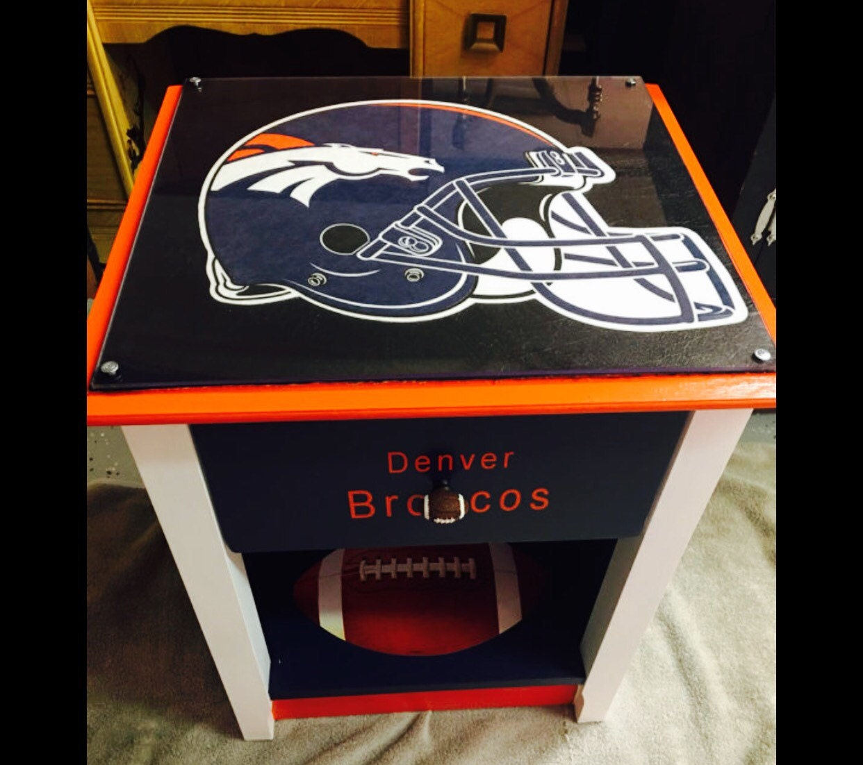 Denver Broncos Chair Denver Broncos Sports Furniture Man Cave Sports Decor