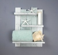 Coastal Decor Above Toilet Shelves Chunky Shelving