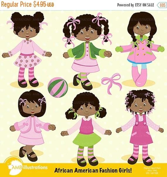 african american girls clipart