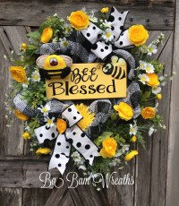 Summer Wreath Summer Decor Summer Door Everyday Wreath Bee