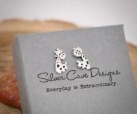 Sterling Silver Giraffe Stud Earrings, Silver Giraffe ...