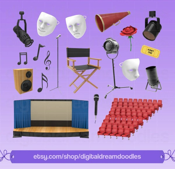 Stage Play Clipart Clip Art Drama Set