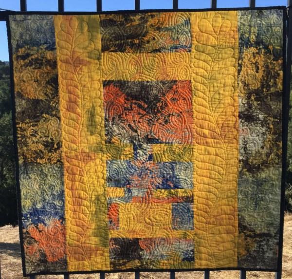 Original Design Contemporary Textile Wall Art. Modern Fabric