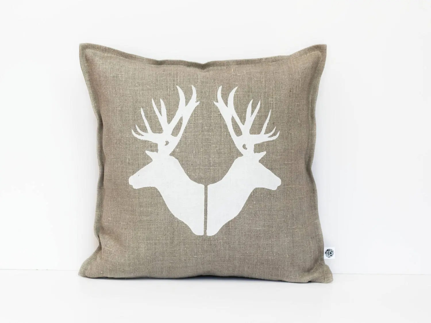 deer print sofa covers best leather cleaner conditioner pillows heads throw pillow