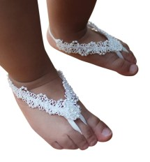 Pearls Baby Sandals Barefoot