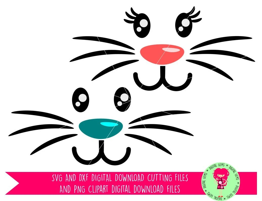 Download Bunny Rabbit Face Easter SVG / DXF Cutting Files For ...