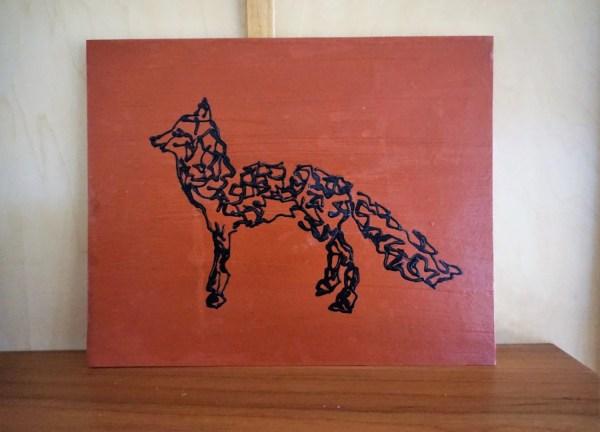 Fox Art Painting Abstract Acrylic