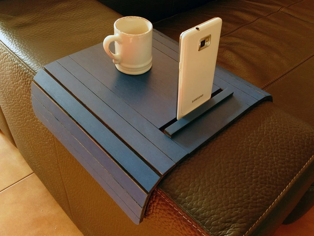 sofa arm tray wood custom made cushion covers laser cut tabletv with standsofa by