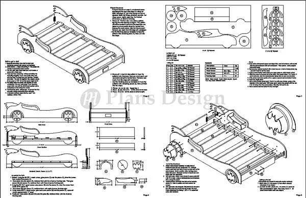 Awesome Batman Mobile Twin Bed Woodworking Plans