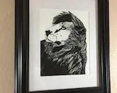 Lion Pride - Original Ink...