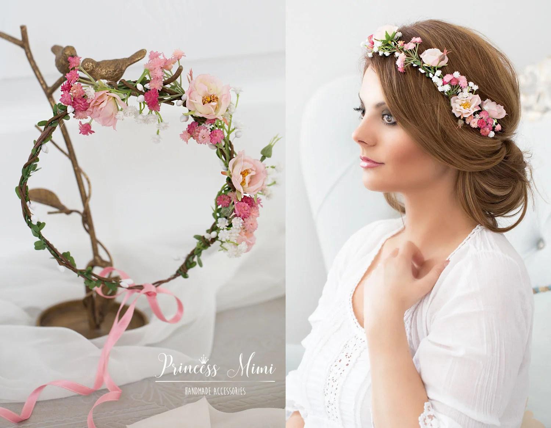 Haarkranz Hochzeit Blumen