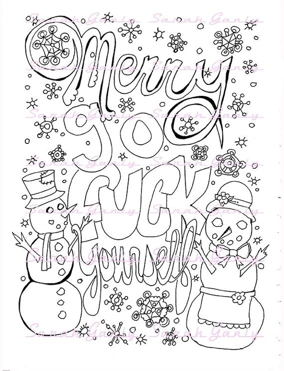 Holiday swear word coloring book 21 pages swear coloring PDF