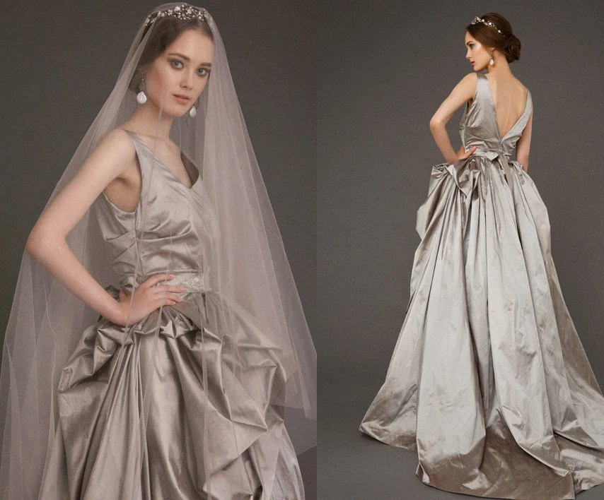 LUSHA / Steel Gray Wedding Dress Trendy Wedding Gown
