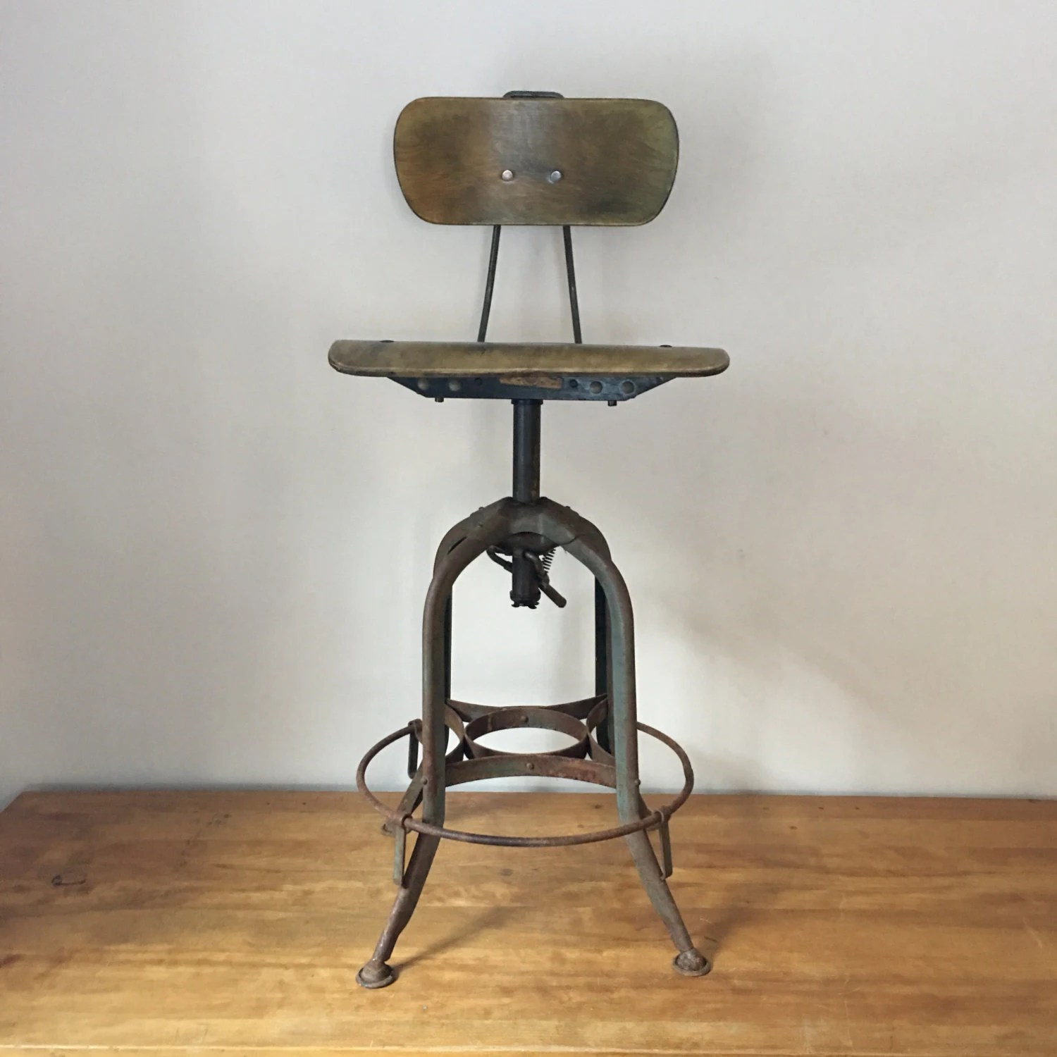 tall drafting table chair covers with arms vintage industrial height adjustable toledo by