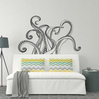 Octopus Tentacles Wall Decal Octopus Kraken Vinyl Wall Decal