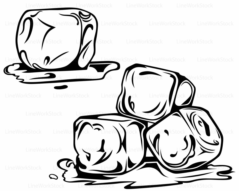 Ice Cubes Svg Ice Cubes Clipart Ice Cubes Svg Cubes