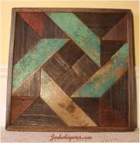 Pinwheel Quilt Wood Wall Art Wooden Wall Hanging Wood Rustic