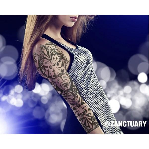 women temporary tattoo sleeve