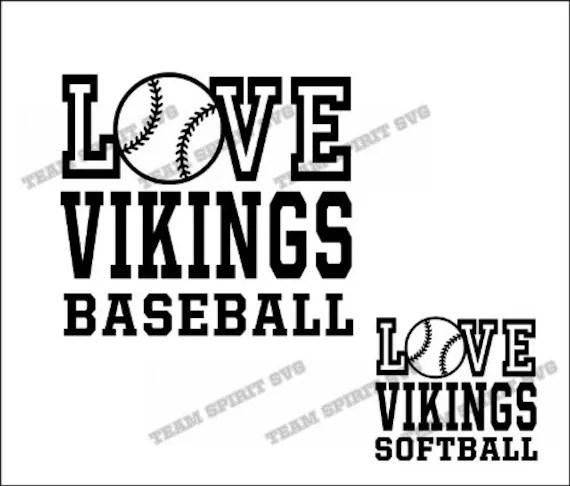 Download Love Vikings Baseball Softball Download Files - SVG, DXF ...