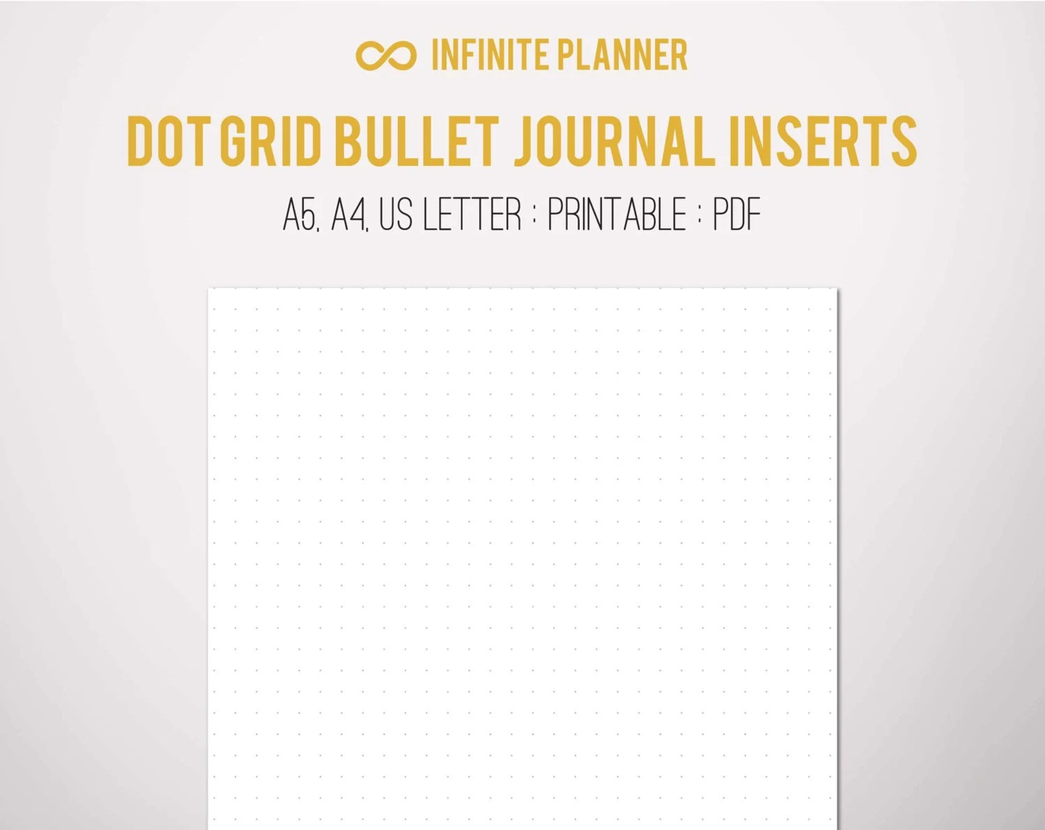 A5 Dot Grid Page Bullet Journal Printable