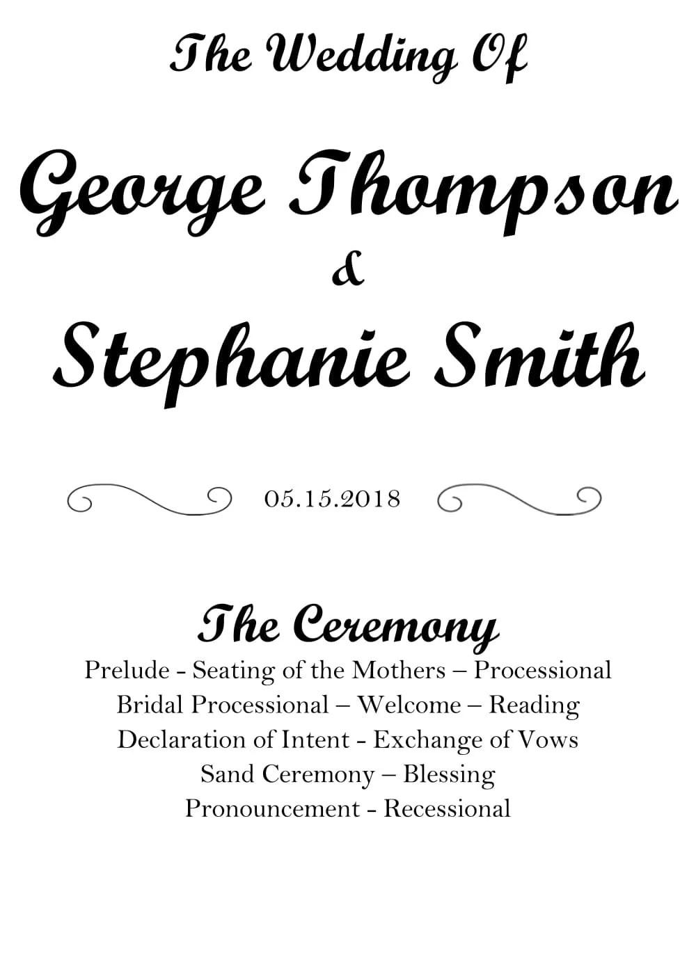 Items similar to wedding program: custom wedding party