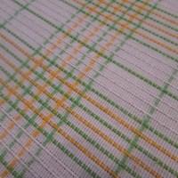 Vintage Lightweight Summer Bedspread Woven Plaid Cotton