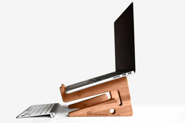 Wood Laptop Stand Notebook Riser Beautiful Simple
