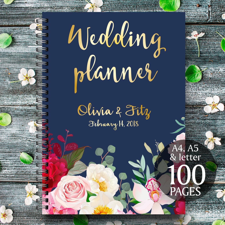 Diy Wedding Planner Navy Burgundy Wedding Binder Printable Wedding Planner Diy Wedding Guide