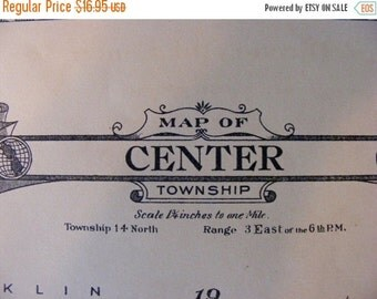 Items Similar To Vintage Land Atlas And Plat Book Eaton